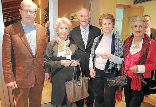 José Luis Roses, Mimida Planas, Onofre Rosselló, Nini Ferrer y Chucu Chacártegui.