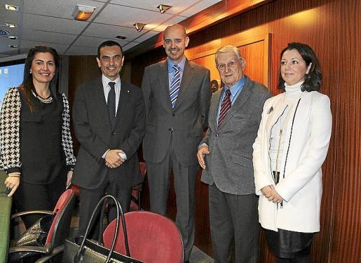Matilde Martínez, Joaquín García, Lluís Bendito, José Oliver y Soledad Seisdedos.