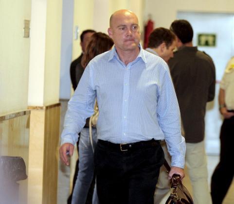 El ex presidente de la Fundación Coint, Pedro Orfila, hoy en los juzgados.