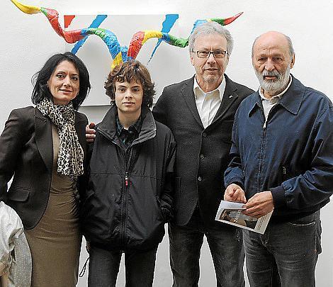 Pilar Ollers, Alejandro Maraver, Luis Maraver y Luis Grande.