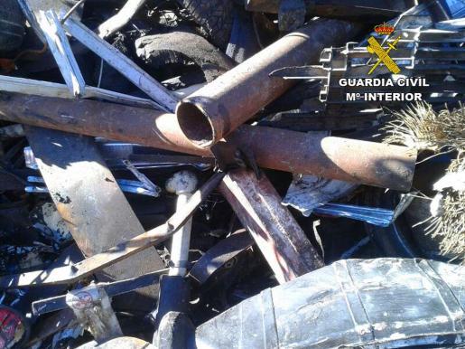 Los tubos de sondeo de pozos fueron recuperados en un estado lamentable.
