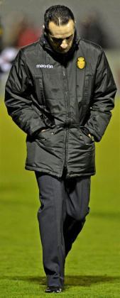 El entrenador del RCD Mallorca, José Luis Oltra.