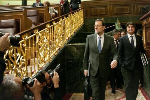 Mariano Rajoy, llegando a la segunda jornada del Debate sobre el Estado de la Nación.