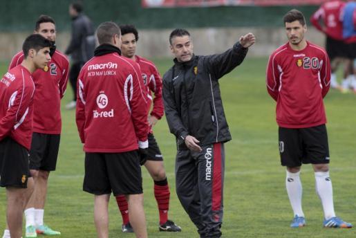 Lluís Carreras ha dirigido su primer entrenamiento al frente del Mallorca.