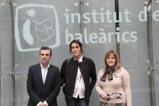 Vera, Sard y Camps, esta mañana en la rueda de prensa donde se ha presentado la exposición LÍMITS.