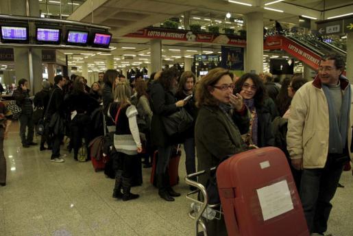 Imagen del aeropuerto de Palma el día 3 de diciembre de 2010.
