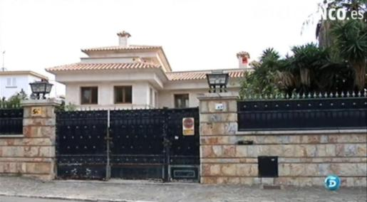 Fachada del chalet propiedad del empresario Gerardo Díaz en Calvià.