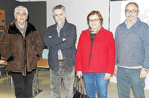 Concha Gallego, Benet Bohigas, Carme Porcell y Manuel Moyà
