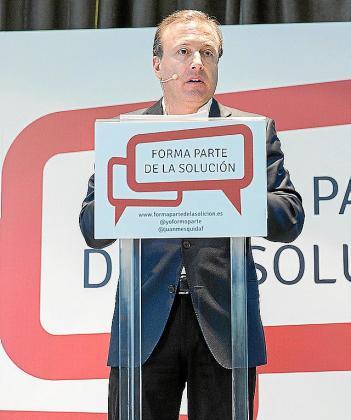 "PALMA - JOAN MESQUIDA DURANTE LA PRESENTACION DE LA PLATAFORMA ""FORMA PARTE DE LA SOLUCION"""