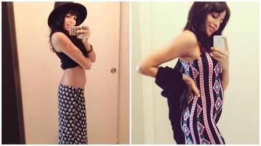 Raquel del Rosario ha colgado dos autofotos luciendo embarazo.