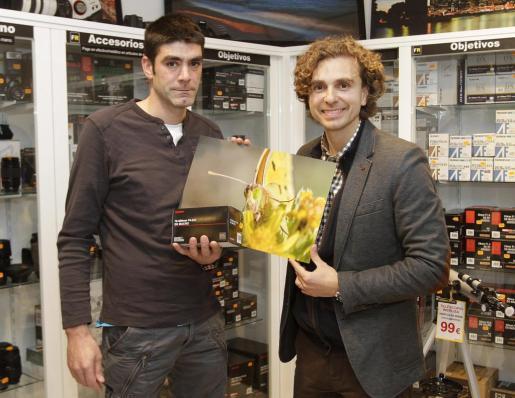 Daniel Ruano con David Sansó, ganador de la categoría Verde.
