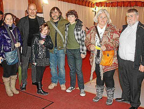 Antònia Bauçà, Toni Verger, Joan, Francina y Biel Bauçà, Esperança Genovart y Joan Font