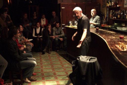 Josep Mercadal y Rodo Gener, en la obra 'Los ángeles', repersentada en la anterior edición de Teatre de Barra