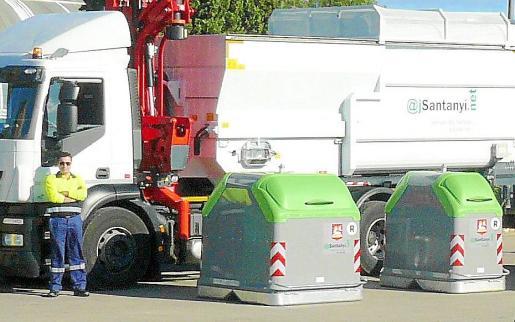 Los nuevos contenedores a instalar en Llucmajor son similares a los de Santanyí, en la imagen.