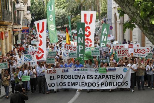 Los sindicatos han vuelto a protestar contra los recortes de Zapatero.