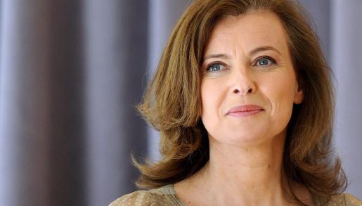 La ex compañera del presidente Hollande de Francia, Valerie Trierweile.