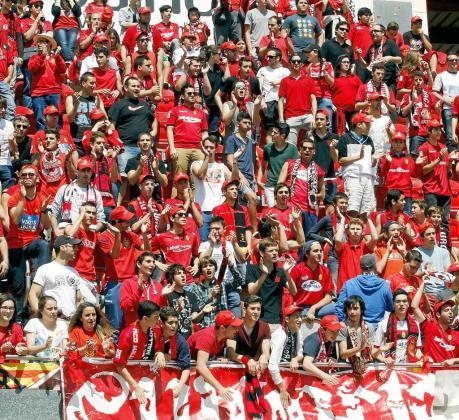 Imagen de una de las gradas del estadio de Son Moix durante un reciente partido del Mallorca.