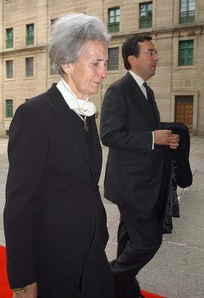 Fotografía de archivo del 28 de abril de 2003 de la condesa viuda de Ripalda, María Concepción Sáenz de Tejada, madre de Jaime de Marichalar.