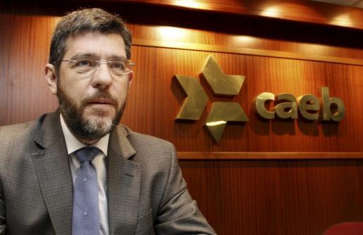 Alberto Nadal, esta mañana en las oficinas de la CAEB.