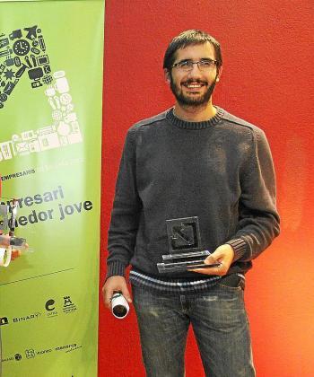 Santi Camps fue escogido Jove Emprendedor en 2012 por la empresa menorquina Social Vane.