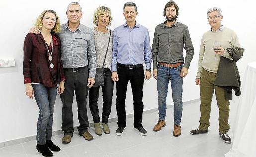 Teresa Luna, Pedro Pujol, Marta Sbert, Luis Riera, Esteve Torres y Ramón García.