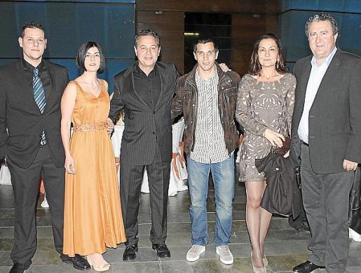 Óscar Barceló, María Ribas, Xisco Barceló, David Salom, Tonina Bestard y Ramón Servalls.
