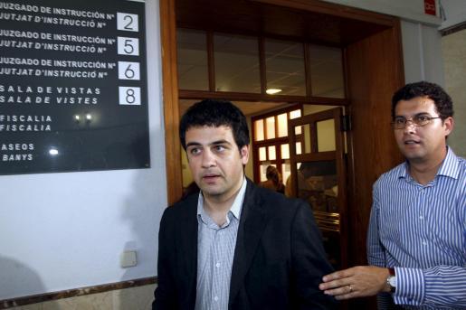 Antoni Moragues, a su llegada a los juzgados.