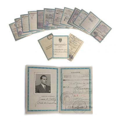 El pasaporte de Don Juan será subastado en Barcelona.