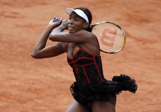 Venus Williams, durante el partido de hoy.