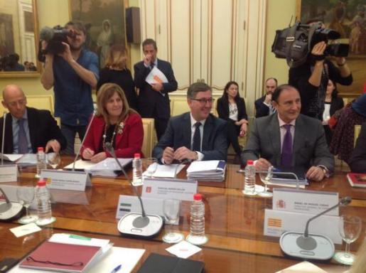 La consellera de Educació, Joana Maria Camps, hoy en la Conferencia Sectorial de Educación celebrada en Madrid.