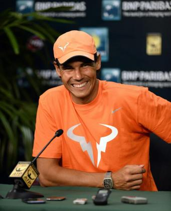 El tenista mallorquín Rafael Nadal, en Indians Wells (EE.UU.) a principios de mes.