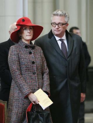 Imagen de archivo del príncipe Laurent de Bélgica y su esposa Claire.