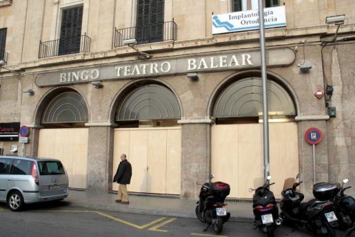 Imagen del edificio que acogería el casino en el centro de Palma.