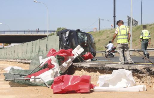 Es el cuarto caso en un mes y los operarios que trabajan en el carril en obras están preocupados.