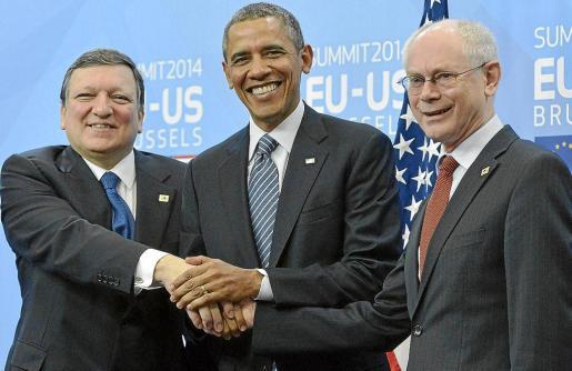 Europa y EEUU escenificaron en Bruselas su unidad en el objetivo de aislar a Rusia.