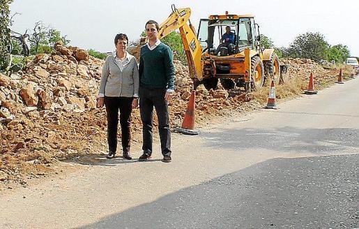 El alcalde visitó el desarrollo de las obras.