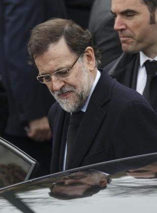 Mariano Rajoy, en una imagen en el funeral de Adolfo Suárez.