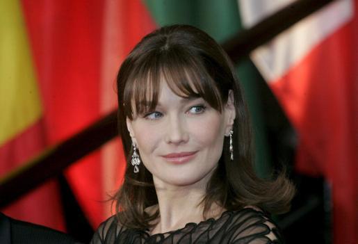 Carla Bruni, en una imagen de archivo ya como primera dama de Francia.