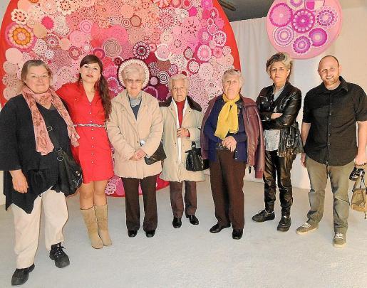 Violette Jesse de Jansen, Laura Serradilla, Rosa Cerdà, Margalida Colom, Margalida Mestre, Mercedes Prieto y Luc Gantios.