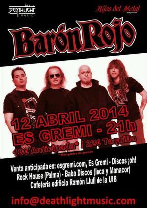 Los actuales componentes de la banda Barón Rojo, precursora del Hard Rock Nacional