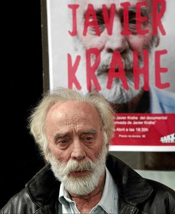 El músico y compositor Javier Krahe, ayer, en CineCiutat.