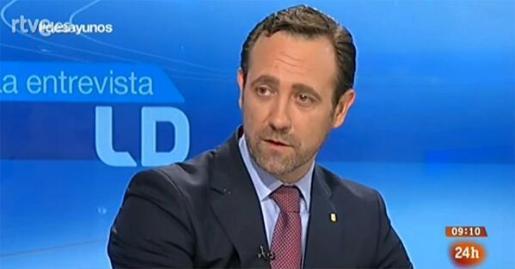 José Ramón Bauzá, durante la entrevista en Los Desayunos de TVE.
