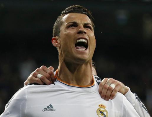 Cristiano Ronaldo, celebrando un gol.