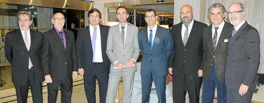 Enric Riera, Joaquín Molina, Gabriel Subías, Manuel Molina, Carlos Hernández, Jaime Martínez, Juan Buades y Luis del Olmo.