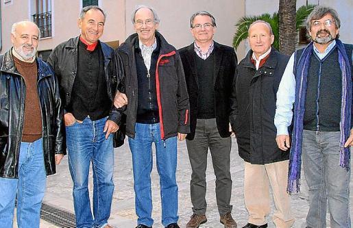Miquel Reche, Antoni Vallori, Simó Andreu, Joan Rotger, Julián Cantallops y Rafel Llobet.