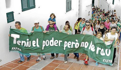 Protesta contra el TIL de FAPMA en Menorca el pasado mes de octubre.