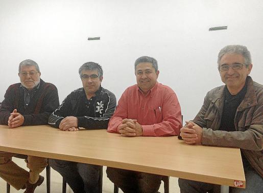 Manolo Gayá, Toni Perelló, Alfonso Uceda y Toni Mayol, ayer, en rueda de prensa.
