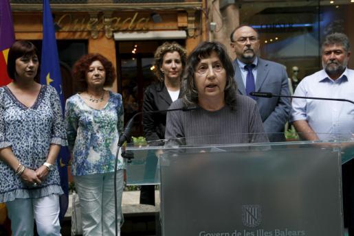 Margalida Capellà, durante la lectura del pregón.