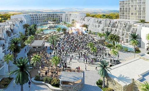 Imagen virtual del futuro Hard Rock Hotel que albergará la cumbre musical.