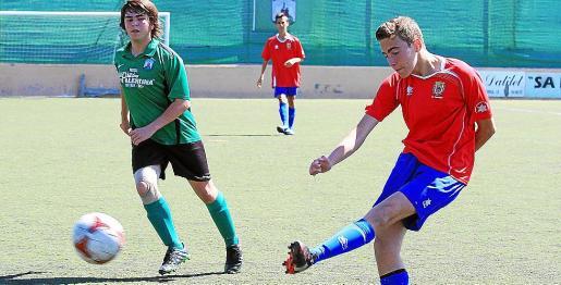 Una imagen del partido Sant Jordi-Portmany de Primera cadete